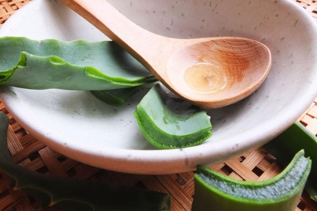 アロエの葉と化粧水